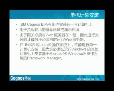 IBM Cognos 8 组建介绍和准备安装(2)